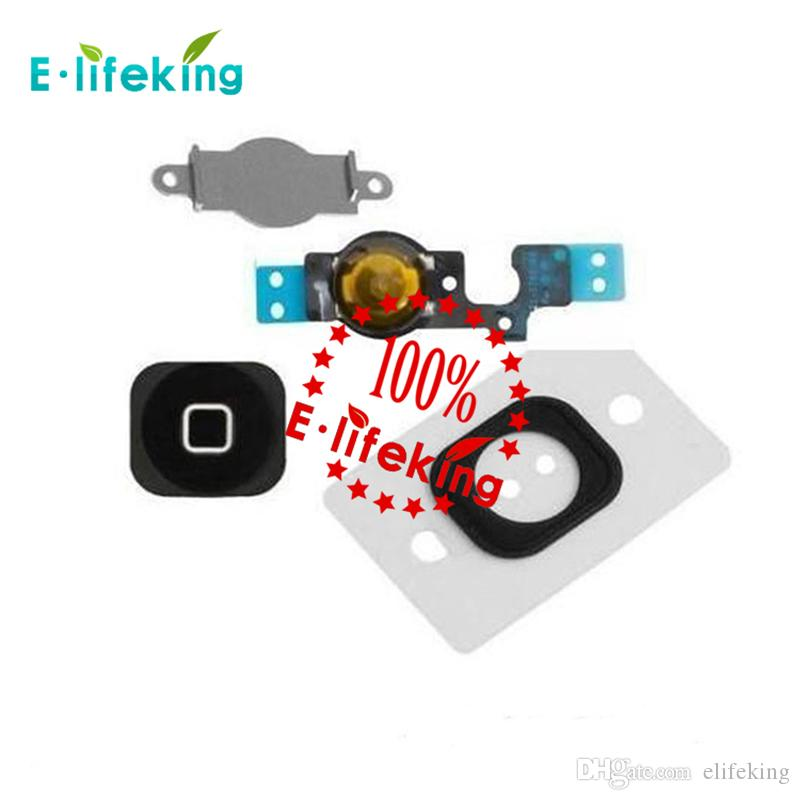 Black & White For iphone 5 & iPhone 5C Home Button Flex Cable Bracket Holder Key Ribbon Cable Parts Replacement
