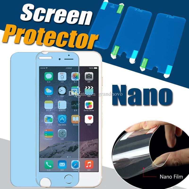 Nano anti choque protetor de tela macio transparente transparente à prova de explosão protetora protetor para iphone 13 pro max 12 mini 11 xs xr x 8 7 6 6 s plus se 2020