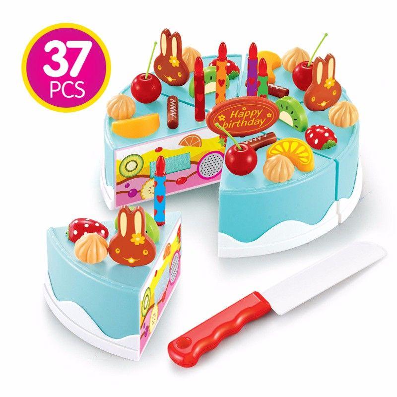Fine 2020 Kitchen Toys Pretend Play Cutting Birthday Cake Food Toy Funny Birthday Cards Online Drosicarndamsfinfo
