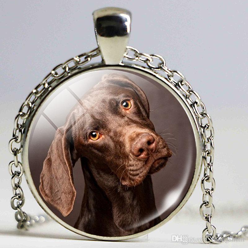 Tempo de moda Gem Colar de Pingente de Dálmatas Colar Cachorro Acessórios De Vidro Cúpula Art Foto Colar de Corrente para As Mulheres