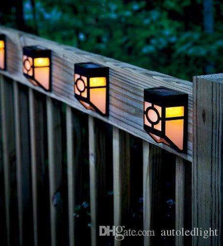 Solar Powered Wall Lamp Outdoor Wall Light LED Light Garden Yard Light High Brightness Lights Outside Landscape Lamp Waterproof