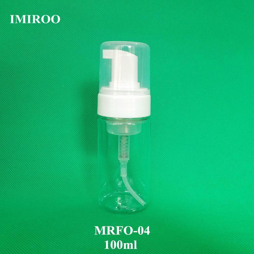 Dispensatore di bottiglie di schiuma trasparente 100ml PET all'ingrosso con pompa di schiuma bianca 50pcs / lot