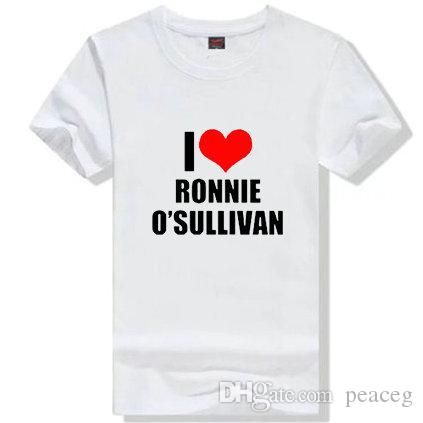 Ronnie O Sullivan T shirt Snooker pool player short sleeve gown Billiards sport tees Leisure printing clothing Unisex cotton Tshirt