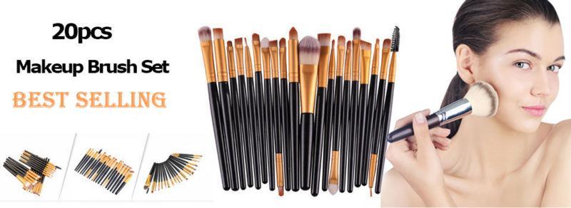 20 pcs makeup brushes set