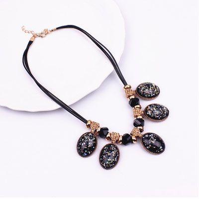Cor shell clavícula colar Acessórios de vestuário Moda corrente de suspensão colar de artesanato
