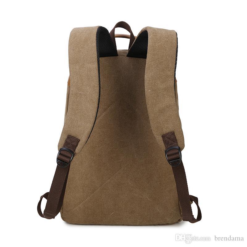 Vintage Men Backpack Brands Good Quality Canvas Men School Packs ...