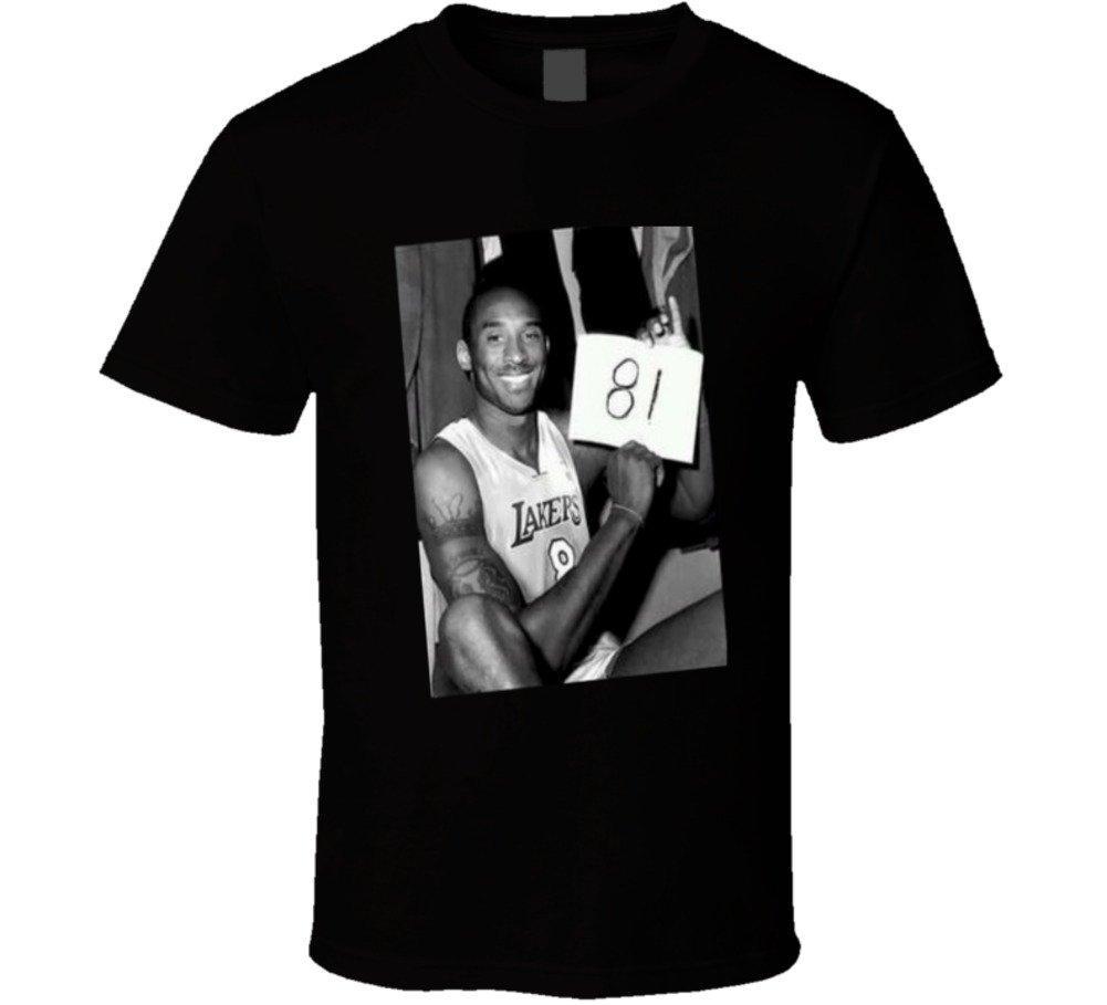 T-Shirt Kobe Bryant 81 Point Game Version 2 nera