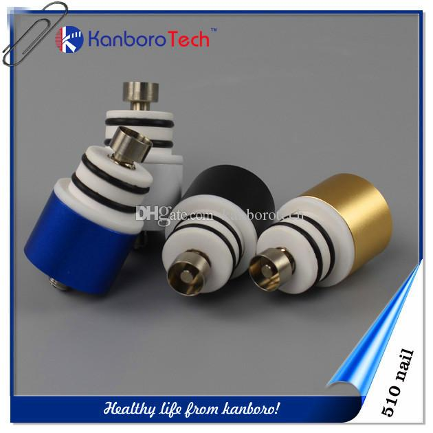 Véritable cire brevetée 510Nail en céramique / titane / quartz pour vaporisateur de stylo vape Vaporisateur E-cigarette 510 atomiseur adapté grand tuyau