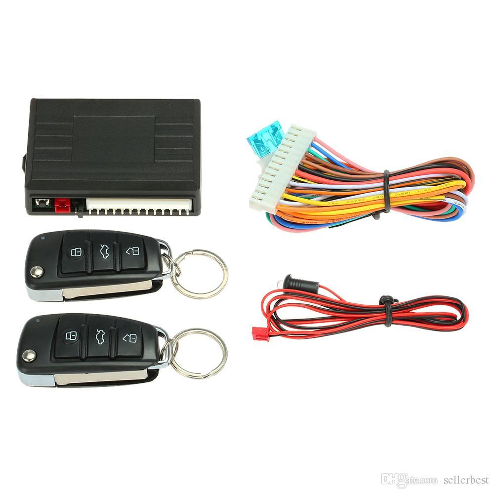 Kit de Syst/ème de Verrouillage T/él/écommande Centralis/é Keyless Entr/ée avec Indicateur LED Universel Pour Auto Voiture