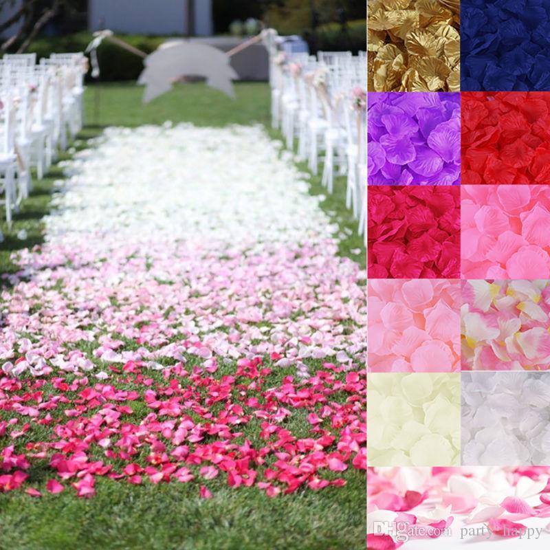 День рождения украшения 1000 шелковых лепестков роз Цветочные конфетти вовлечение свадебное украшение на день рождения свадебный декор ремесло