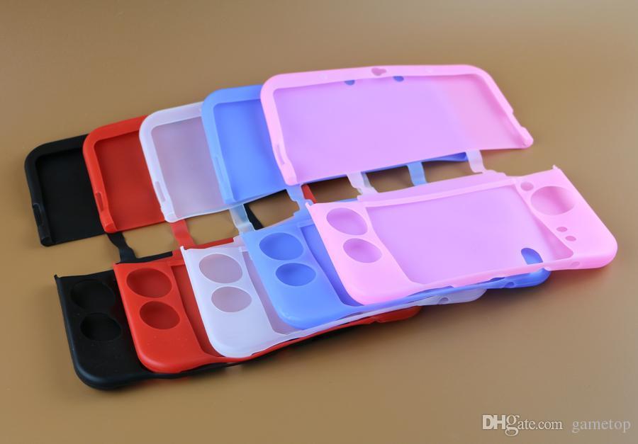Per NUOVO 3DSXL 3DSLL Nuovo 3DS XL LL Custodia protettiva in silicone colorato Custodia protettiva in pelle Custodia in gomma siliconica 20 pz / lotto