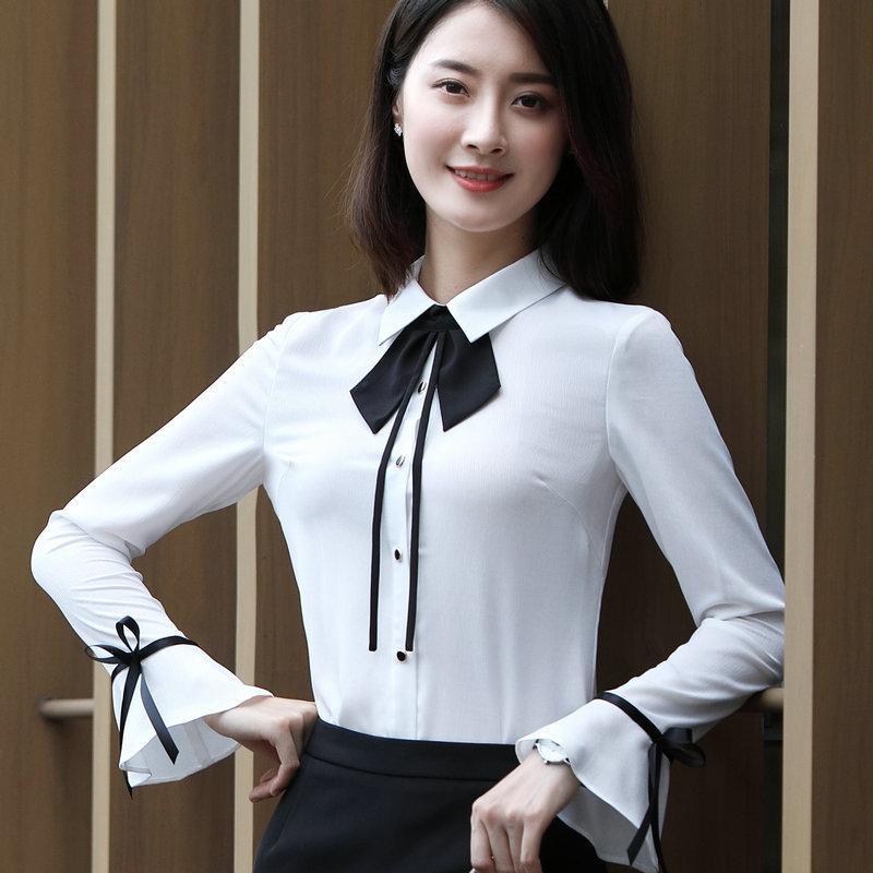 4a3874832db50b Women Blouses Long Sleeve Shirts Simple Design Ladies Office chiffon Shirt  2017 Female Blusas Feminina Fashion Clothes