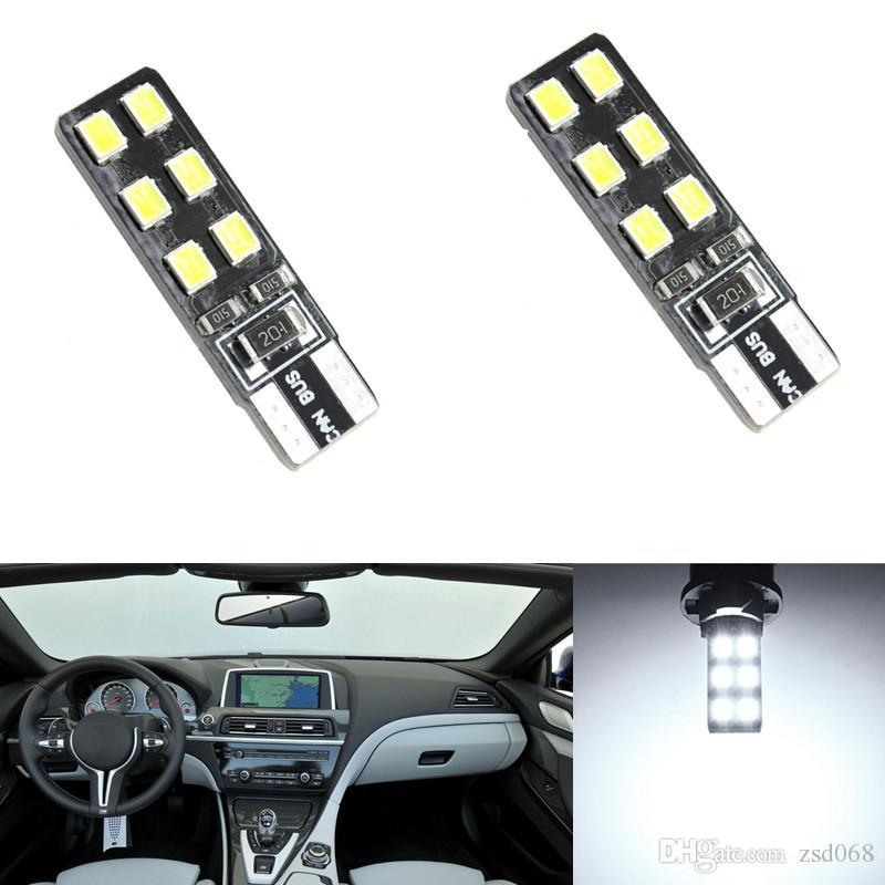 20X lumière blanche ROSE Canbus T10 5050 12SMD LED ERROR FREE ampoule de plaque d'immatriculation