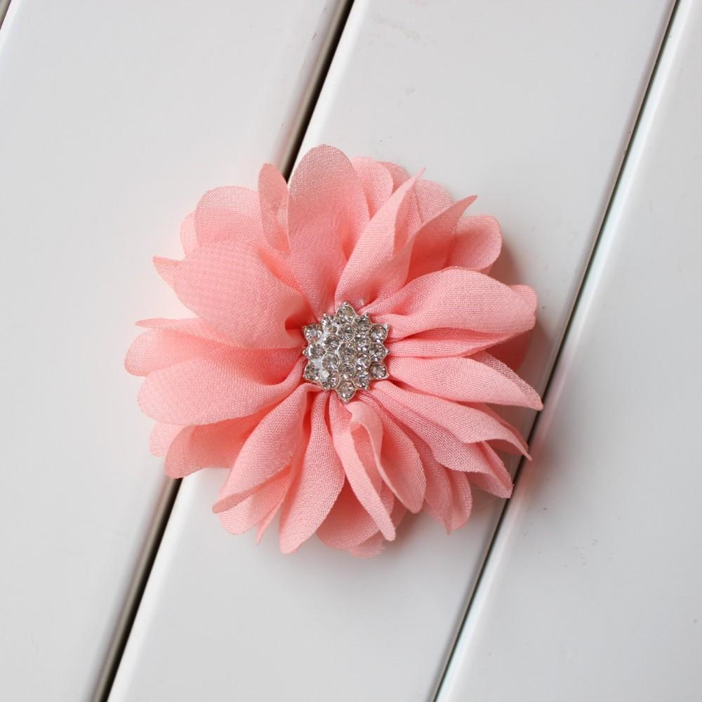 Cheap new 7cm baby kids hair flower ballerina flowers chiffon we can always see little girls looking like little princess some cheap hair accessories for girls are the secret regular pink and flower wedding flower dhlflorist Choice Image