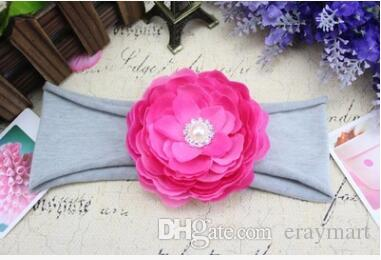 New Baby floral headbands for girls girl children photography props Hair Accessories lace cloth five colors