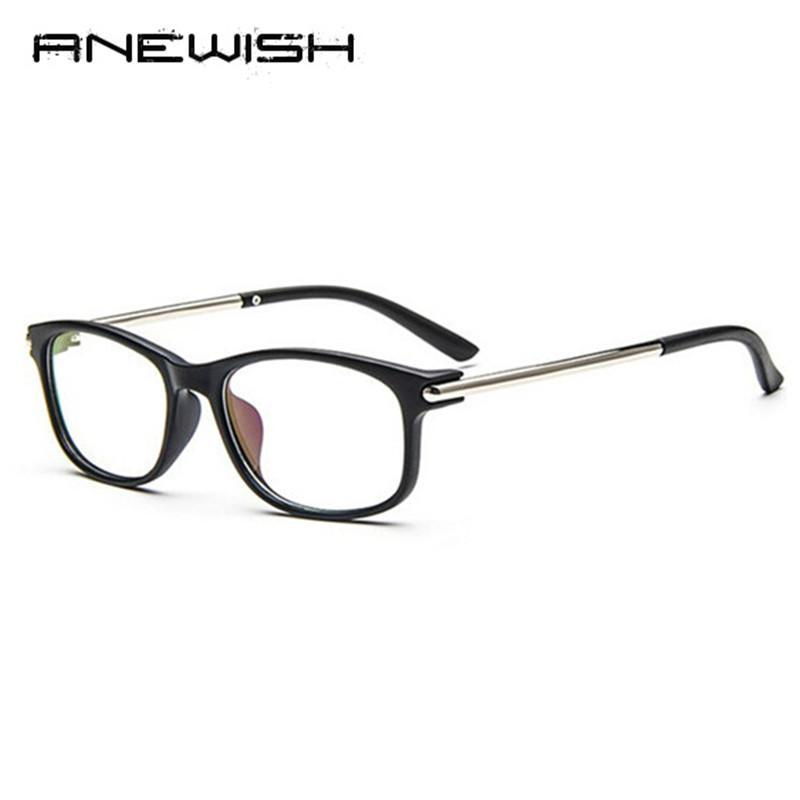 Toptan-ANEWISH 2017 En Yeni Gözlük Kadınlar Vintage Çerçeve Erkekler Retro Düz Şeffaf Lens Optik Gözlük Gözlük Çerçevesi # QQ2