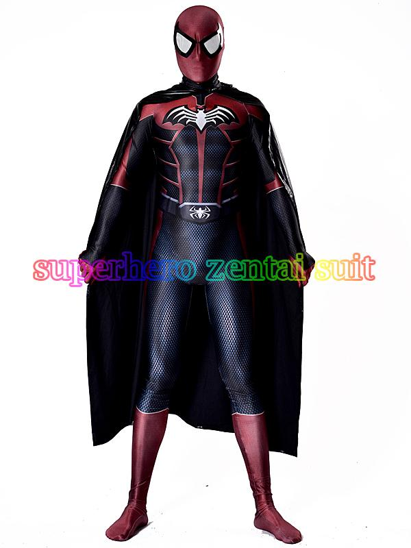 Spider-Bat Costume 3D Shade Spandex Fullbody Halloween Cosplay Spiderman Superhero Costume For Adult/Kids Hot Sale free shipping