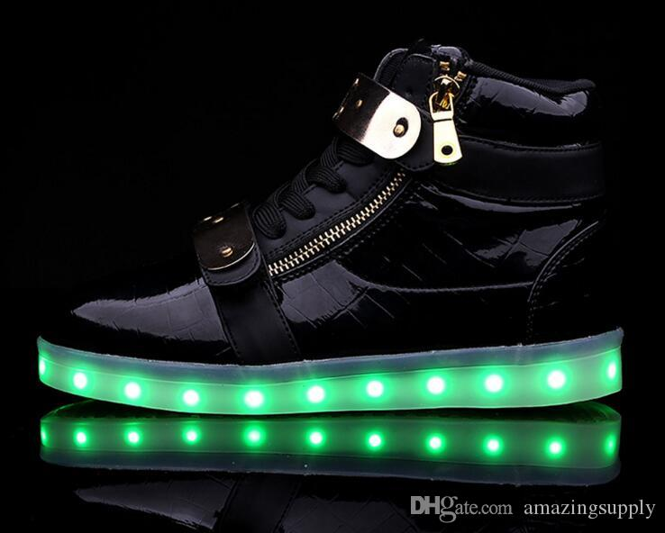 Easy Fashion Led Shoes Man USB Light up Shoes Sneakers Lovers For Adults Boys Casual Students Sports Glowing With Fashion Flashing Shoes the cheapest cheap price official site for sale wiki AeNEsKSIIy