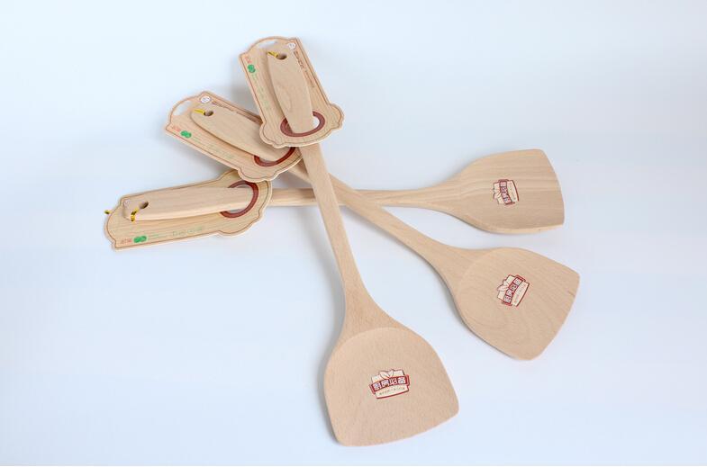 Turner de madera de alta calidad que cocina la espátula de madera especial de la pala de madera de la herramienta para la cacerola antiadherente