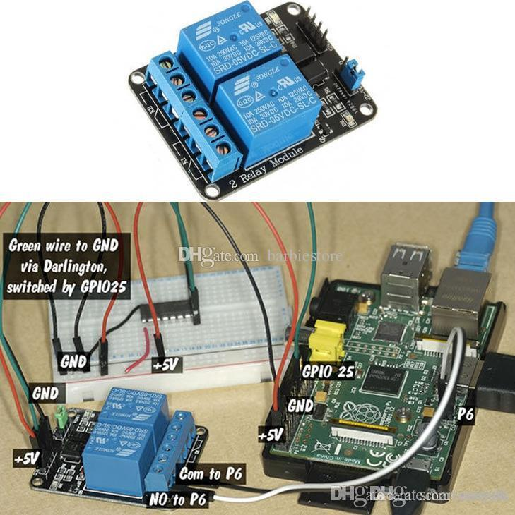 5V 2 Channel Relay Module for Arduino PIC ARM DSP AVR Electronic Raspberry B00246 JUST