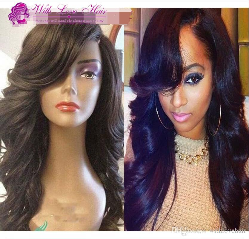Best Sale 100% Glueless Full lace wigs Brazilian human hair Lace Front Wig Body Wave with baby hair Bleached Knots For Black Women
