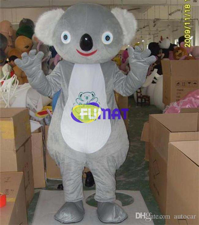 FUMAT Koala Bear Outfit Mascot Costume Koala Orso Cartoon formato adulto Fancy Dress per la festa di Halloween Festa di Natale Immagine Personalizzazione