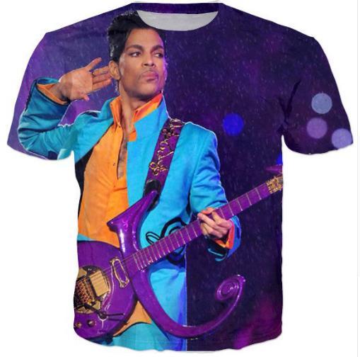 Prens Mor Yağmur T-Shirt Yaz Tarzı Üstleri Tee Kadın Erkek Tshirt Casual 3d Giyim Karikatür Karakter S-5XL H44