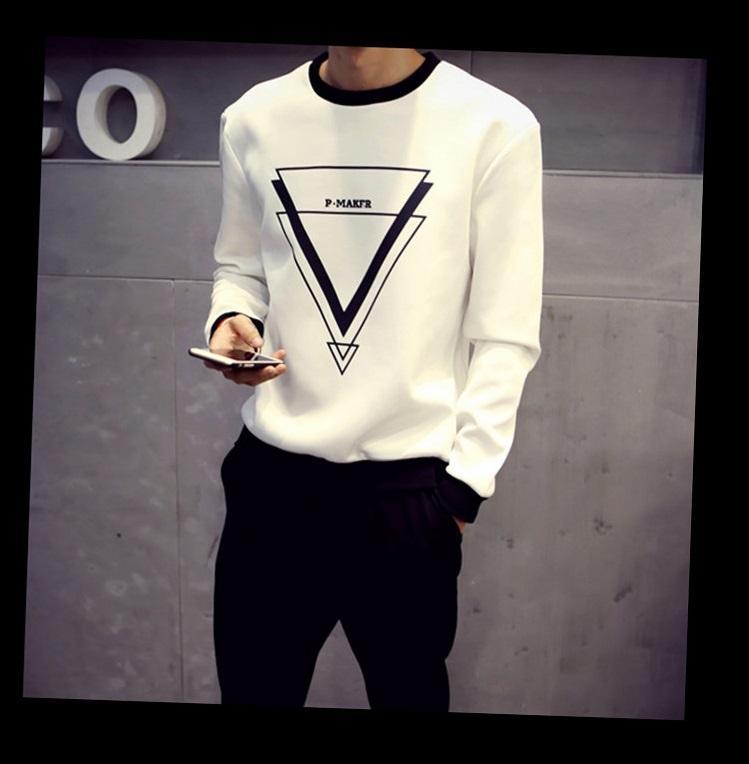 Sonbahar ve kış nakliye yılında 2017 yeni patlama erkek uzun kollu Tişört gömlek yaka genç Koreli öğrencinin eğlence giyim gelgit