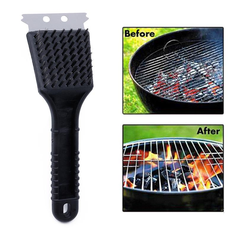 Wholesale- Stainless Steel Grill Steam BBQ Cleaning Brush Barbecue Cooking Clean Tool