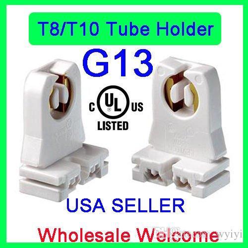 UL 등록되지 않은 T8 램프 홀더, Ruixin 소켓 LED 형광등 교체 용 Tombstone Turn-type Lampholder (20-Pack)