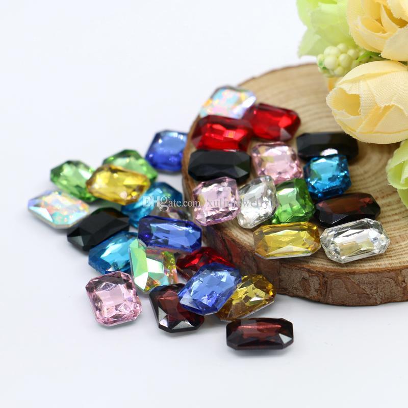 6x8 ملليمتر نوعية جيدة شكل الحجر مثمن 100 قطعة / الحقيبة الزجاج k5 نقطة العودة يتوهم حجر الفضة احباط الأحجار الكريمة (10 لون مختلف متاح)