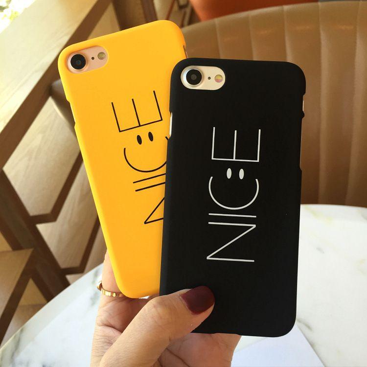 Corée NICE simple smiley Coque pour Apple iPhone 7 6 6S 6plus 7 7plus Coque dure pour iPhone 7