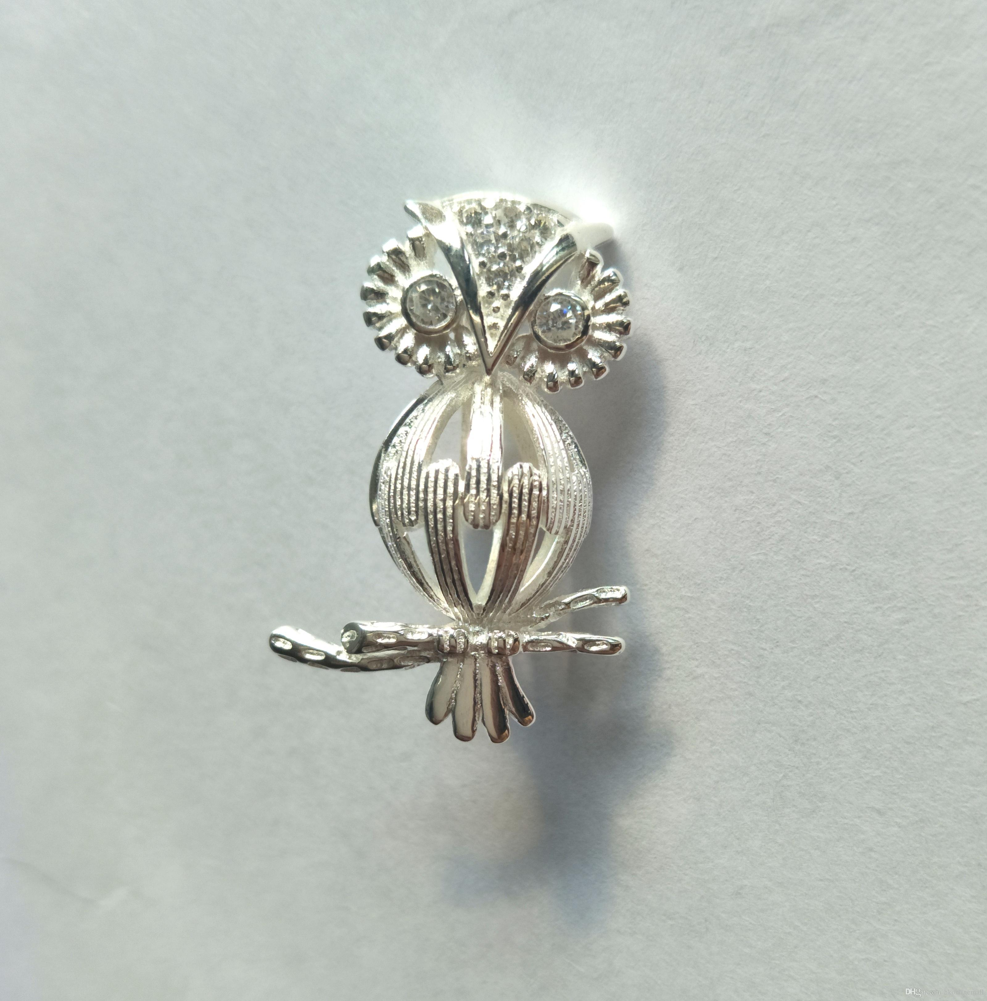 925 Silver Wish Bead Pendant Locket/ Can Open Owl Cage/ DIY Pendant Bangle Necklace Earrings Jewelry Charm