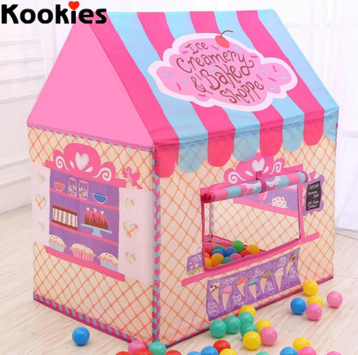 Baby indoor outdoor play tent baby girls pink ice cream house design toy tents kid tent  sc 1 st  DHgate.com : girls tent - memphite.com