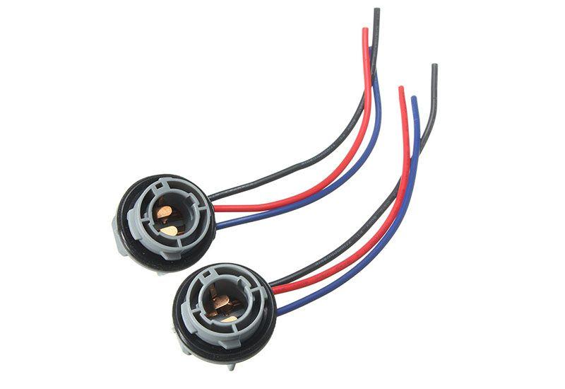 2PCS 10cm 1157 2057 2357 BAY15D Car Lamp Socket Adapter Connector Harness Wiring For Car Auto Turn Signal Headlight Light Bulb