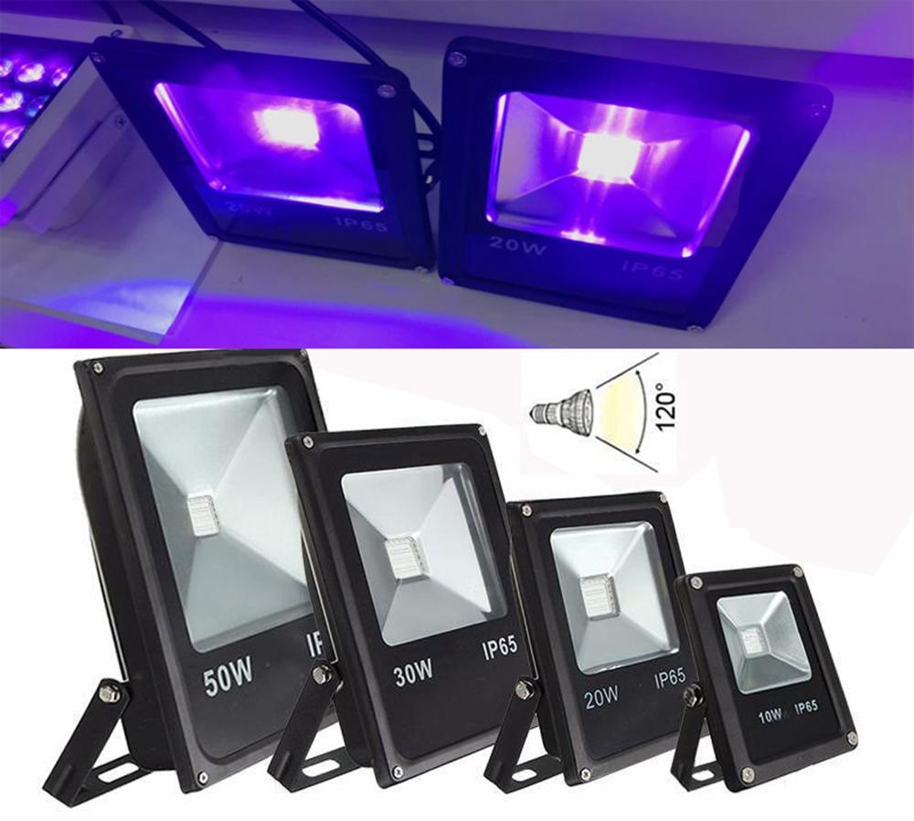 Наивысшая мощность 10W 20W 30W 50W UV ультрафиолетовый свет 395nm-405nm водить IP65 напольный прожектор лампы лампы прожектора