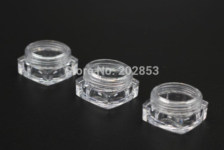 Square Base 5g Gram Sample Makeup Packaging Small Cream Bottle Jar ...