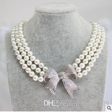 Nanyang madre perla collana clavicola conchiglia collana di perle rotondo 10mm