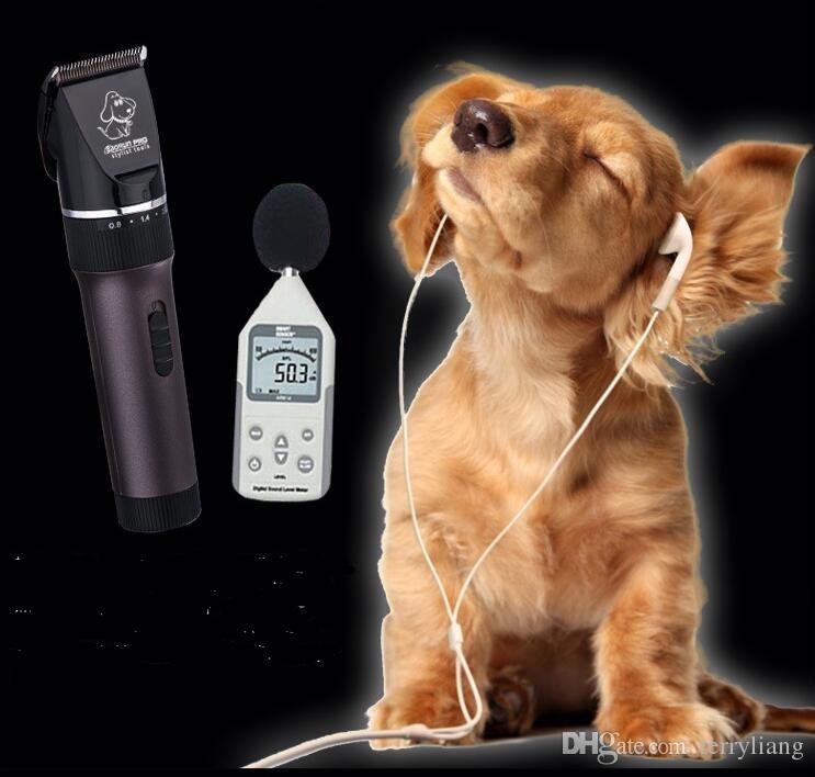 professional pet hair trimmer 2000ma li battery black ceramic blade dog hair clipper teddy fur cut tool cat precision shear hair shave