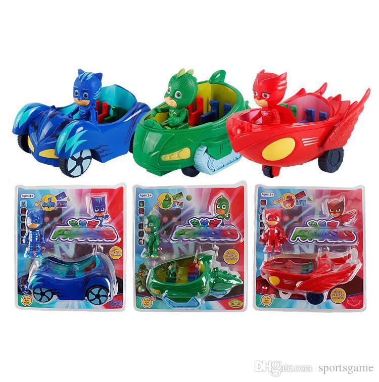 PJ Figure Hero Pjmasks Connor Catboy Catcar Owlette Owl Glider Gekko Gekko-mobile Pull Back Car Toys For Kids Juguete Brinquedo