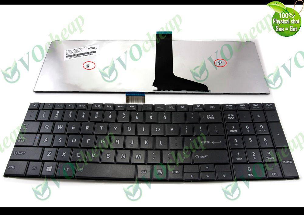 NUOVO Per Toshiba Satellite C50 C50D C55 C55D Nero Colore Laptop Tastiera UK