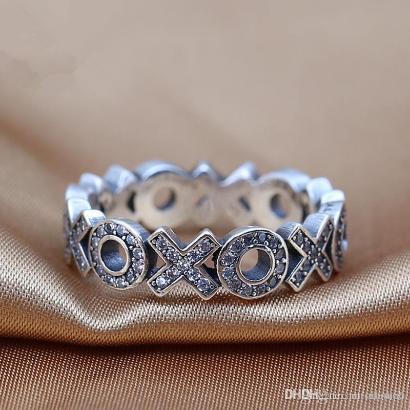 Venta al por mayor nuevos anillos de encantos de Europa 2016 s925 ale plata de ley estilo de lujo anillos de la banda con anillos ventas calientes