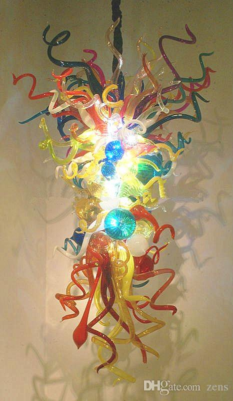Multi-cor Nova Lâmpadas Sprial Hastes e Bolha de Luz Pingente De Vidro Soprado Lustre de Arte de Iluminação Lustre De Vidro Luzes LED