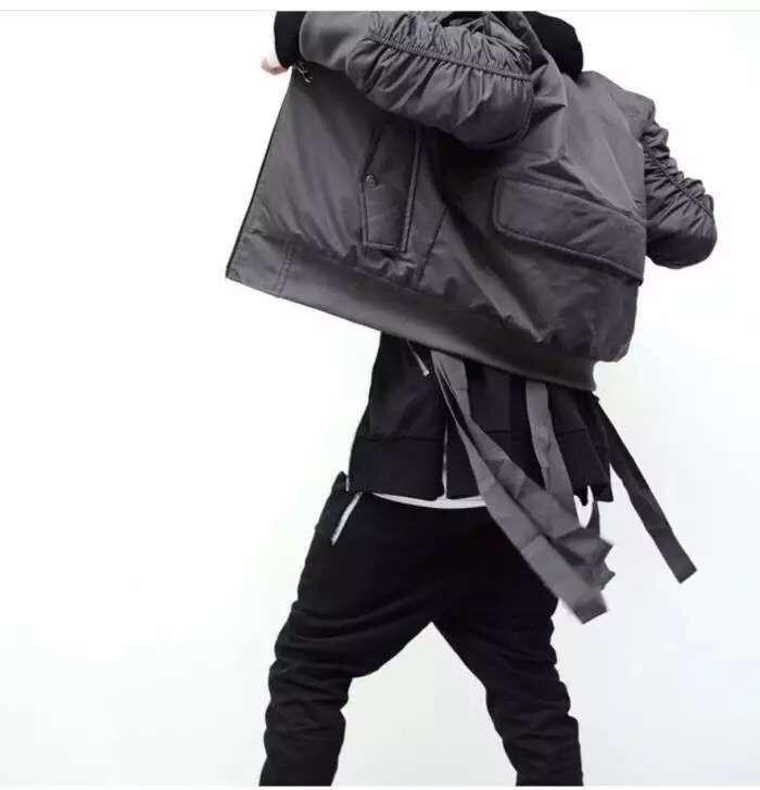 Оптовые - прохладная куртка бомбардировщик полета повседневная мужчина поддельный дизайнер новый модный эксклюзивный байкер Hiphop Bomber West куртка ASJMO