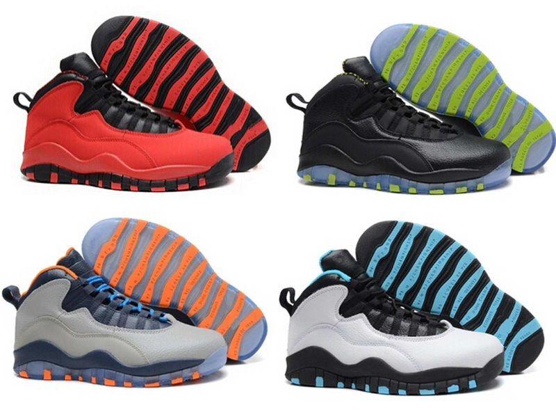 NIKE AIR JORDAN RETRO Nuovo 10 economici all'ingrosso Parigi Hornets City Pack Vivid rosa 10s uomini scarpe da basket Sneakers scarpe sportive spedizione gratuita