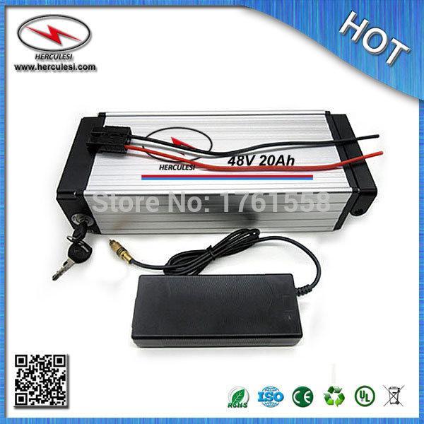 Batteria elettrica della bicicletta della vendita calda pacchetto 48V 20Ah 1000W con 18650 cellula di litio Li batteria 30Amp BMS 54.6 V 5A caricatore SPEDIZIONE GRATUITA