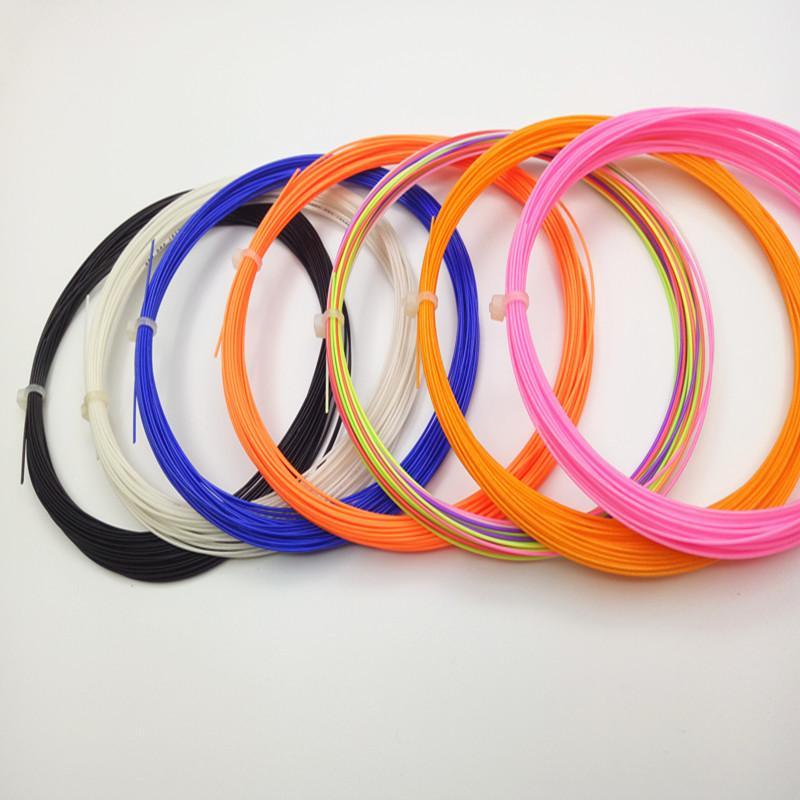 2017 badminton schläger begrenzt 100% nylon für filament rushed gefärbte garn für handfäden für lieferung marke badminton string