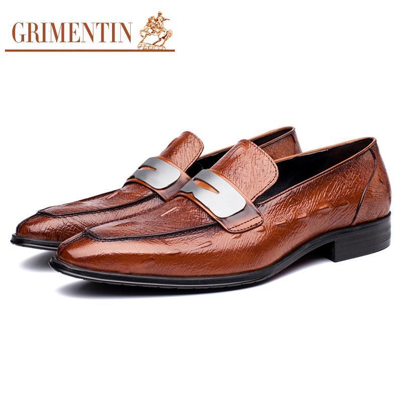 2017 alta moda uomo scarpe Italia nero marrone marrone antiscivolo mocassini in vera pelle scarpe casual da uomo da sposa luxury 2017