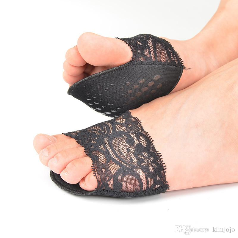 6 pairs Lace Design Anti-slip High Heels Cushion Protector Feet Care Forefoot Pad Insoles Invisible Half Yard Pad