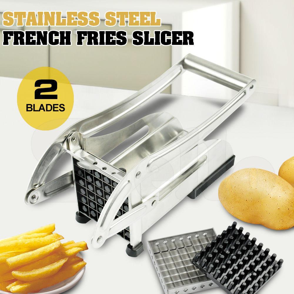 POTATO CHIPPER SLICER CHIPS FRENCH FRIES CHOPPER CUTTER CHIP MAKER QUICK /& EASY